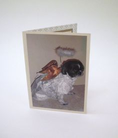 Shih Tzu Sympathy Card Prayer Card Angel Card by Lillyzcardz, $4.00