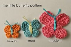 Little Birdie Secrets: how to crochet a butterfly. Cute for girls hair clips!.
