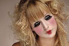 maquillaje teatral, muñeca