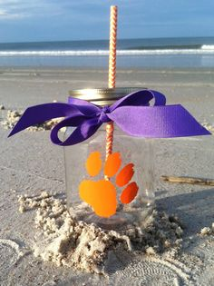 Clemson Tigers Personalized Mason Jar Cup by TooCutePersonalized
