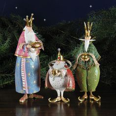 "Nativity Set Magi by Patience Brewster - 3 Pc 10"" scale (10""H) http://www.christmasnightinc.com/c49/c50/Nativity-Set-Magi-by-Patience-Brewster-3-Pc-10-scale-10H-p1453.html#"