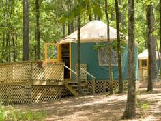 Let's Go Camping... in a YURT! And for cheap! Plus it's right on the sandy beach part of the lake.