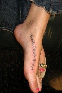 Love foot tattoos!