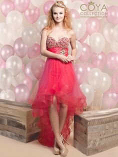 Sparkly, Strapless, High-Low Dress