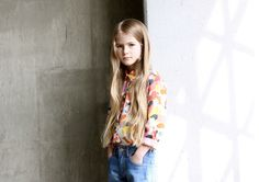 There is a modern paint splash print in the collection at ESP No.1 for fall 2014 kidswear