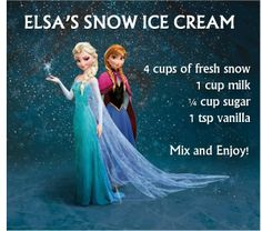 Elsa's Snow Ice Cream #Disney #Frozen