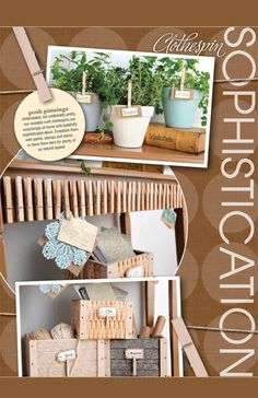 HobbyLobby Projects - Clothespin Sophistication