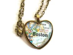 Custom Map Necklace