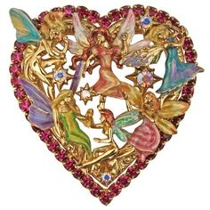Fairy Gathering Heart Pin/Enhancer from Kirks Folly online store