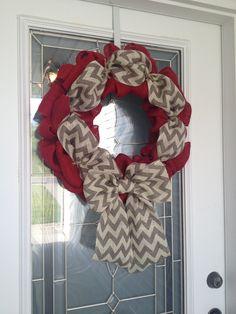 diy burlap wreath | DIY Burlap bubble wreath. So easy & only cost ... | Sewing and Craf...