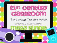 centuri classroom, technolog theme, theme decor, middl grade, technology, school, classroom decor, classroom theme, 21st centuri