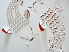 More hand cut paper art by Lisa Rodden