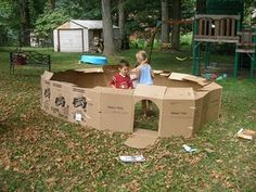 a big cardboard castle, maybe next summer!