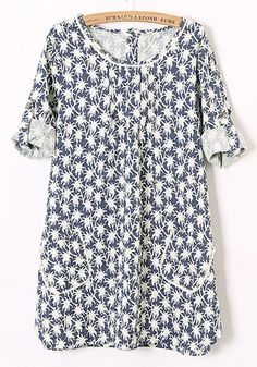 Loose Cotton printed Blouse