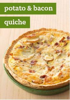 Potato & Bacon Quiche – Made with sliced new potatoes, crumbled bacon and shredded Swiss cheese, this tasty quiche makes a hearty dish for the brunch crowd!