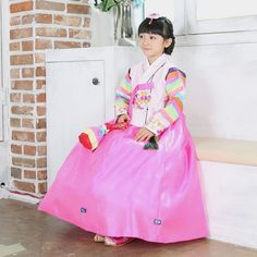 Pink Tangyi style hanbok. Korean hanbok! Click this picture, go to ebay listing :)