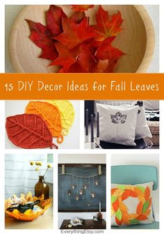 15 DIY Decor Ideas for Fall Leaves