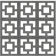 I love this pattern of cement block.