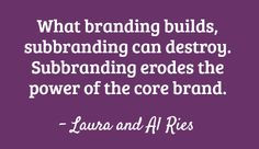 The Law of Sub-brands for brand strategy