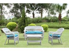 Portside White 4pc Outdoor Set