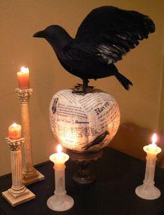 Edgar Allen Poe pumpkin.