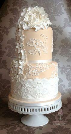 Giant fantasy peony wedding cake