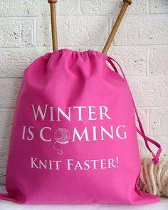 Cute knitting bags