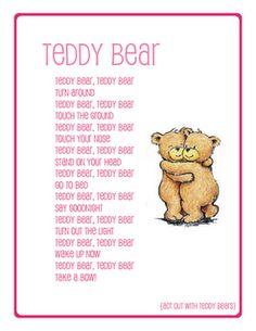 preschool song teddy bear