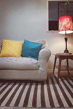 Striped rug diy