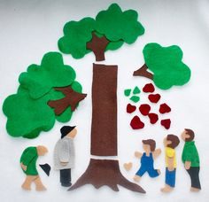 The Giving Tree - Felt Board Flannel Story from Cake In The Morn http://www.etsy.com/shop/CakeInTheMorn?ref=seller_info