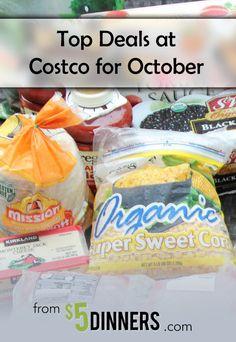 Top Deals at Costco for October | 5DollarDinners.com
