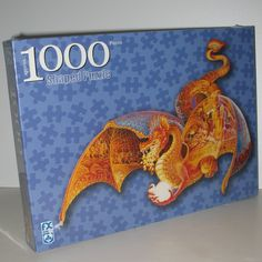 Fire Dragon Shaped Jigsaw Puzzle by F.X. Schmid 1000 Pieces Sally J. Smith. Find it on eBay by clicking on the picture. #ck #dragons #jigsawpuzzles