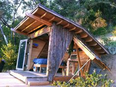 roof, glass doors, big sur, garag, tiny houses, backyard, rustic cabins, hawk, alex o'loughlin