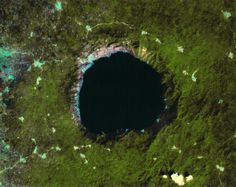 Bosumtwi Crater Ghana. 1.3 million years old, 8km in diameter from an object 150m
