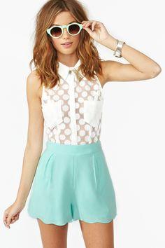 Veracruz Shorts - Mint. Nasty Gal. Shirt too!