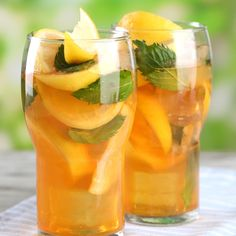This homemade lemon ice tea is more economical then buying bottled.  It also is not filled with artifical flavors and as much sugar as you will find in powdered ice tea mixes.. Homemade Lemon Iced Tea Recipe from Grandmothers Kitchen.
