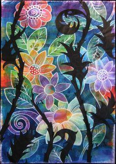 color, acrylics, judi coat, quilts, painted fabric, paintings, coat perez, walk, ink
