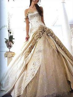 gold wedding dress  Gold Dress #2dayslook #ramirez701 #GoldDress  www.2dayslook.com