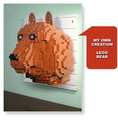 Display your own LEGO creations on a BRICK RACK.