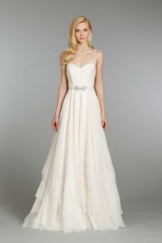 Float down the aisle in this flowing a-line gown - so dreamy!   Hayley Paige