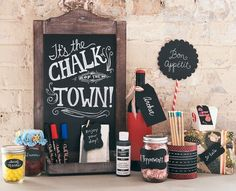 craft party, chalkboard crafts, parti