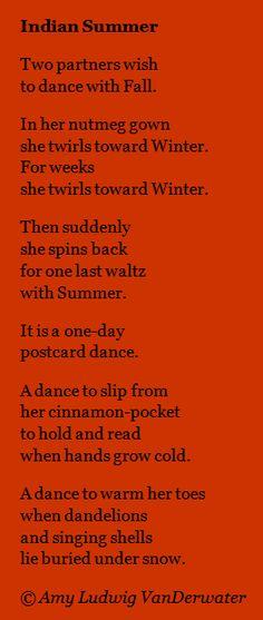 The Poem Farm: Indian Summer