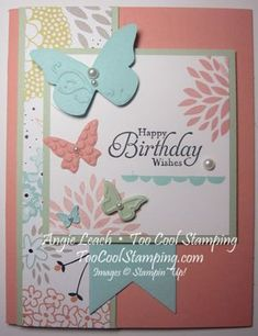 TooCoolStamping.com Sale-A-Bration, Petal Parade, Sweet Sorbet DSP, Beautiful Wings, butterflies, Banners Framelits