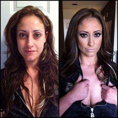 Porn Actrices, with and without make up eva notti, magic, stars, makeup, porn star, beauti, pornstar, photography, actresses