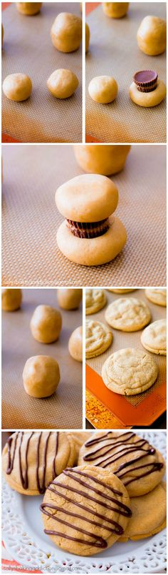 Soft-Baked Peanut Butter Cookies stuffed with Reese's Peanut Butter Cups