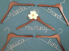 Bridal party and bride hangers!
