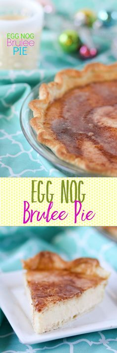 Egg Nog Brulee Pie -