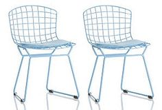 Set of 2 Little Berts Chairs, Blue