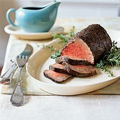 Holiday Reader Favorites | Thyme and Spice-Rubbed Roast Beef Tenderloin Au Jus | CookingLight.com