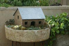 Hypertufa cottages